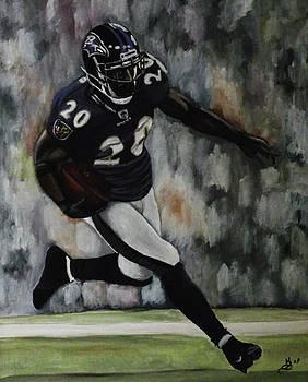 Baltimore Ravens Ed Reed by Kim Selig