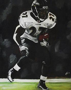 Baltimore Ravens Ray Rice by Kim Selig