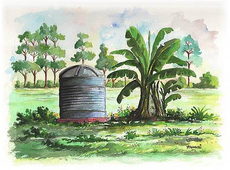 Banana and Tank by Anthony Mwangi