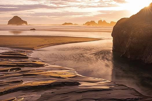 Bandon Beach Sunburst by Brad Scott