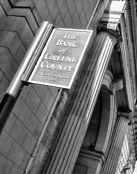 Bank Building in Catskill NY by Nancy de Flon