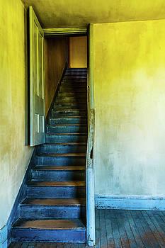 Bannack Blue Stairs by Steven Bateson