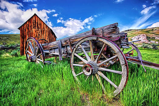 Bannack Wagon by Joe Sparks