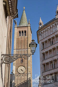 Baptistery and Cathedral in Parma by Patricia Hofmeester