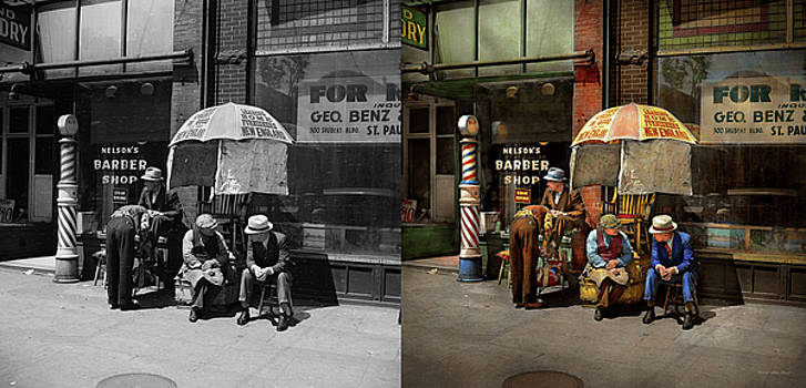Barber - At Nelson's Barber Shop 1937 - Side by Side by Mike Savad