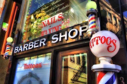 Barber Shop - North End - Boston by Joann Vitali