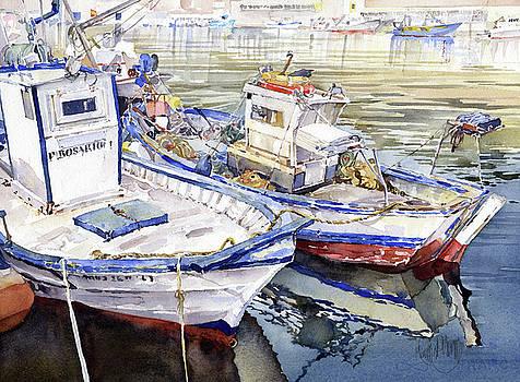 Barcas En El Puerto Almeria by Margaret Merry