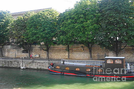 Barge on the River Seine by Therese Alcorn