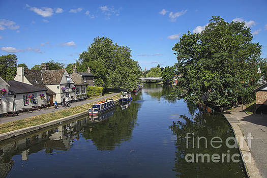 Patricia Hofmeester - Barges on the river cam