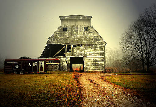 Barn and Horse Trailer by Mark Orr