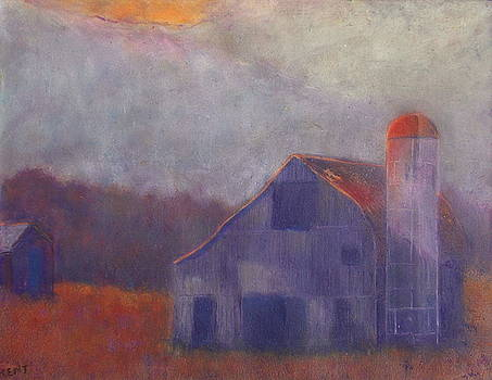 Barn Autumn Afternoon by Kent Whitaker