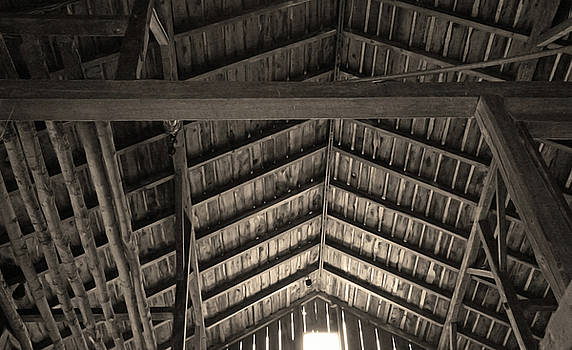 Barn Ceiling in Sepia Tone by Brooke T Ryan