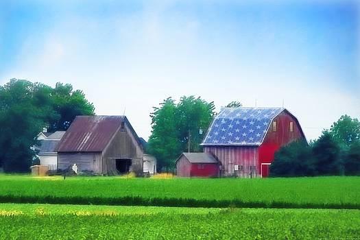 Barn in the U.S.A by Chrystyne Novack