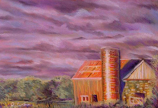 Barn Silo by George Grace