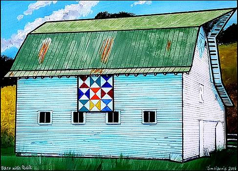 Barn with Quilt by Jim Harris