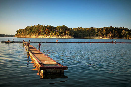 Barren River Lake Dock by Amber Flowers