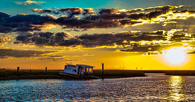 Barrier Island Sunset by Christopher L Nelson