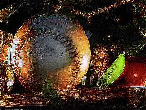 Baseball abstract by Stuart Turnbull