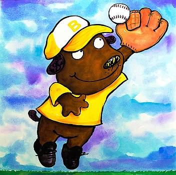 Baseball Dog 4 by Scott Nelson