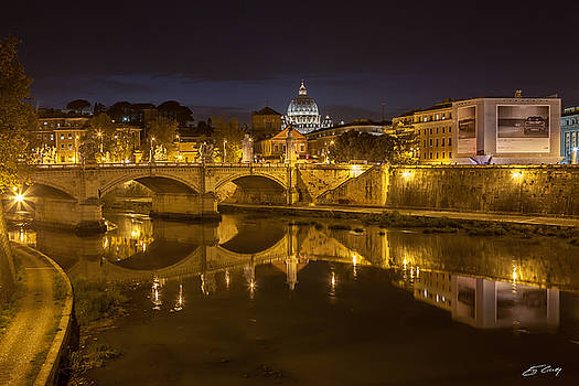 Basilica over the River Tiber by Ed Cilley