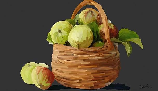 Basket of Apples by Deborah Rosier