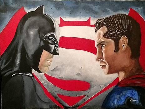 Batman Vs Superman by Justin Lee Williams
