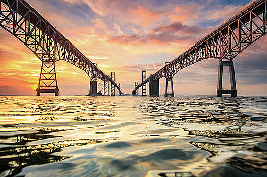 Bay Bridge Impression by Jennifer Casey