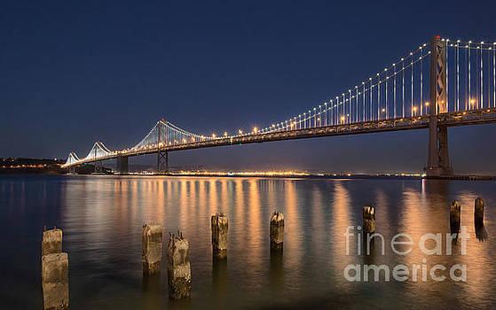 Bay bridge Lightshow by Mark Chandler