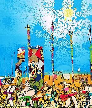 Beach bums by Johny Deluna