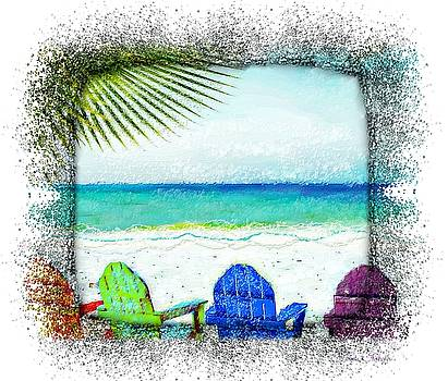 Beach Chairs In Paradise by Barbara Chichester
