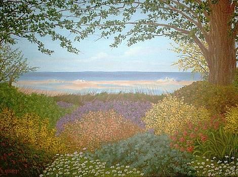 Beach Front Garden by Darlene Agner