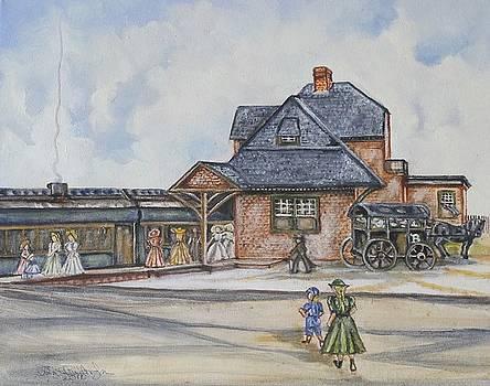 Beach Haven Railroad Station by Anne Buffington