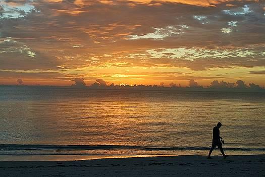 Beach Morning by Ruthann Carlson