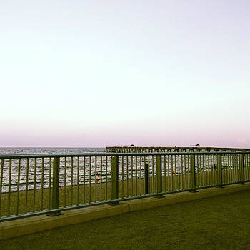 #beach, #pier, #sand, #sunset, #lake by Francisco Colon