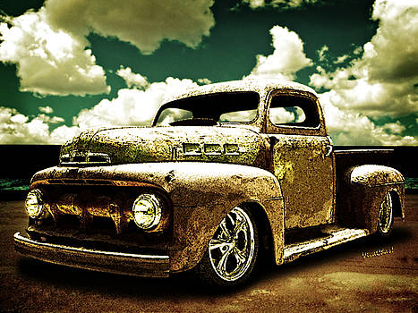 Beach Rat Rod Pickup Working on its Patina by Chas Sinklier