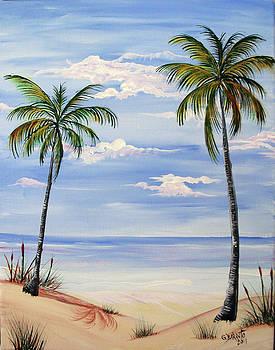 Beach scene by Gloria E Barreto-Rodriguez