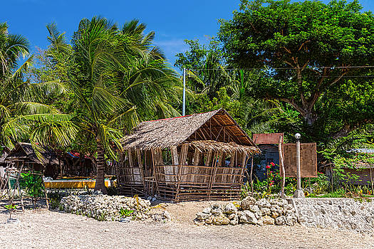 Beach Side Nipa Hut by James BO Insogna
