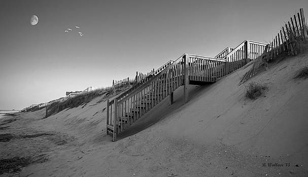 Beach Side - OBX - BW by Brian Wallace