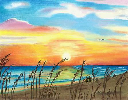 Beach Sunset by Bonnie Schallermeir