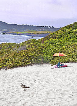 Steve Ohlsen - Beach Umbrella 2 - Carmel CA