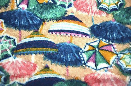 Beach Umbrellas Patterns by Sandi OReilly