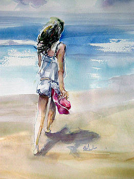 Beach Walk by Shirley Roma Charlton