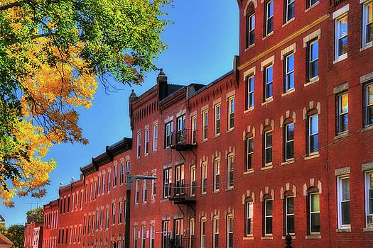 Beacon Hill Red Brick Architecture - Boston by Joann Vitali