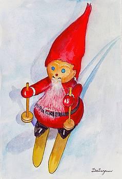 Bearded Elf on Skis by Dai Wynn