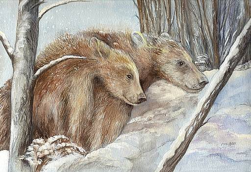 Bears in The Snow by Morgan Fitzsimons