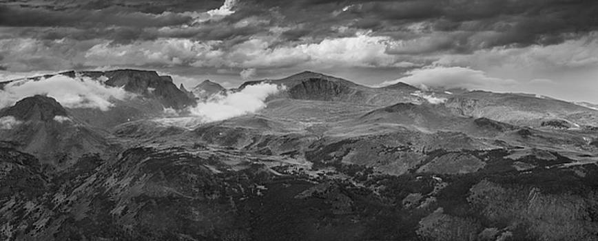 Beartooth Mountains Wyoming B W by Steve Gadomski