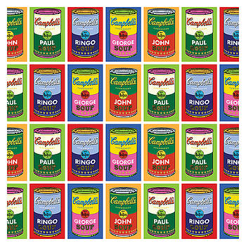 Beatle Soup Cans Wallpaper by Gary Grayson