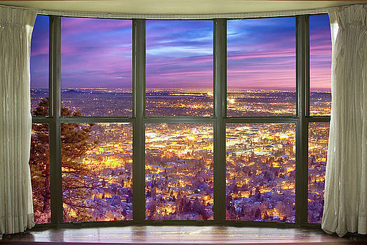 Beautiful City Lights Bay Window View by James BO Insogna