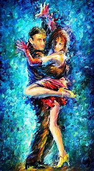 Beautiful Dance 2 - PALETTE KNIFE Oil Painting On Canvas By Leonid Afremov by Leonid Afremov
