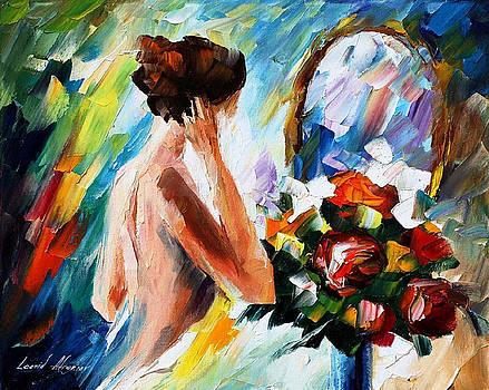 Beautiful Morning - PALETTE KNIFE Oil Painting On Canvas By Leonid Afremov by Leonid Afremov